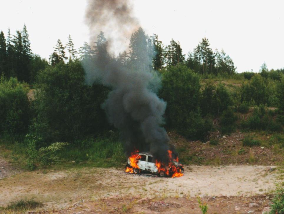 Hondan går upp i rök
